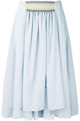 Loewe high-rise flowing skirt