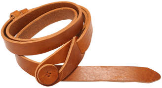 Lowie Leather Button Belt