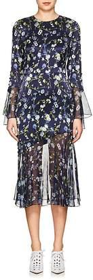 Prabal Gurung Women's Floral Silk Charmeuse & Chiffon Dress