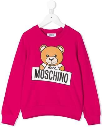 Moschino Kids teddybear print sweatshirt