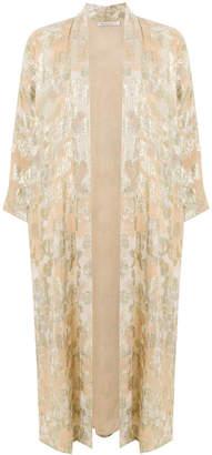 Mes Demoiselles shimmery print kimono coat