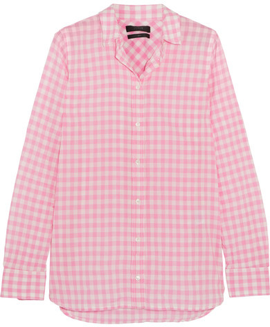 J.Crew - Boy Gingham Crinkled-cotton Shirt - Pink