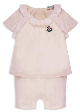 Moncler Girls' Ruffled Romper - Baby