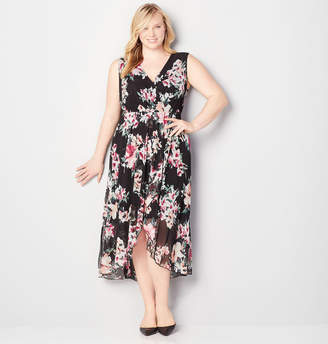 Avenue Floral Hi Lo Wrap Dress