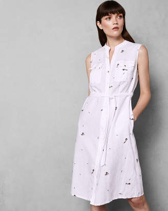 Ted Baker XXENA Embroidered swimmers shirt dress