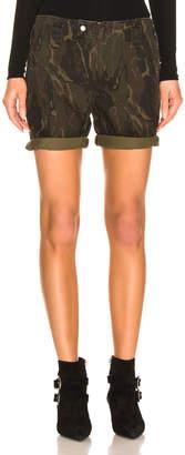 Saint Laurent Camo Shorts in Militaire | FWRD