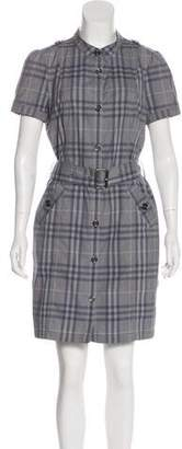 Burberry Nova Check Knee-Length Shirtdress