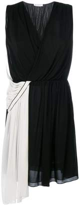Vionnet two-tone asymmetric dress