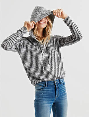 Lucky Brand CLOUD JERSEY STRIPED HOODIE