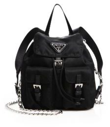 Prada Vela Mini Crossbody Backpack $950 thestylecure.com