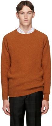 Officine Generale Orange Wool Seamless Crewneck Sweater