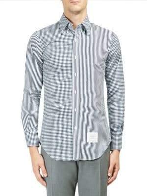 Thom Browne Printed Cotton Button-Down Shirt