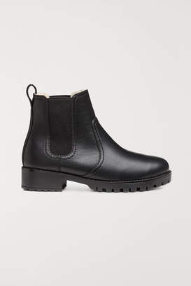 H&M Warm-lined Chelsea Boots - Black