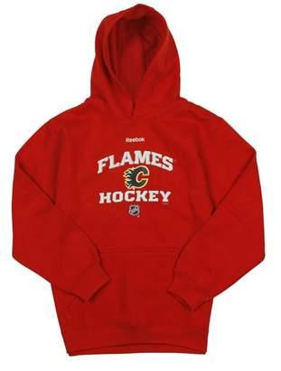 Reebok Calgary Flames NHL Big Boys Fleece Pullover Hoodie