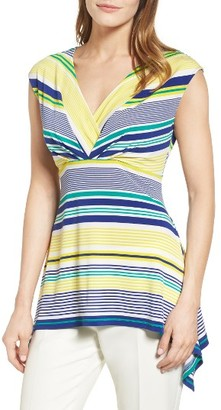 Women's Chaus Stripe Shark Bite Top $64 thestylecure.com
