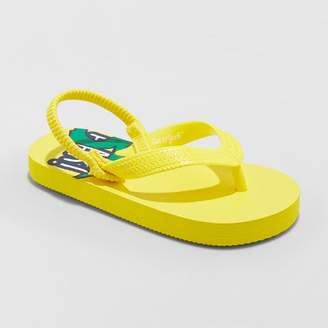 Cat & Jack Toddler Boys' Lance Flip Flop Sandals Yellow