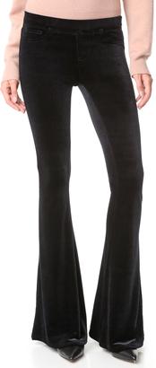 Blank Denim Velvet Flare Jeans $98 thestylecure.com