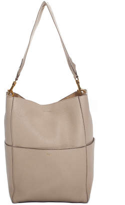 Celine Beige Pebbled Leather Seau Sangle Tote