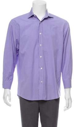 Ralph Lauren Purple Label Printed Dress Shirt