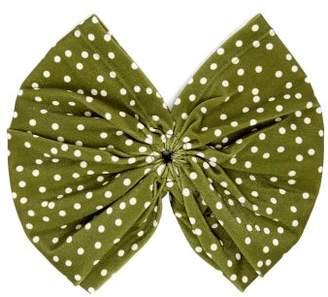 Adriana Degreas Mille Punti Polka Dot Print Headband - Womens - Green White