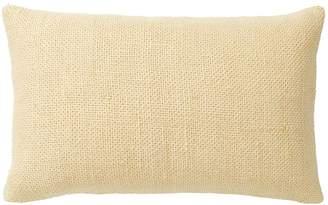 Pottery Barn Faye Textured Linen Lumbar Pillow Cover - Yellow