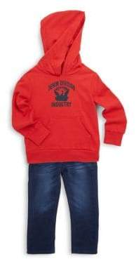 Diesel Little Boy's Two Piece Hoodie and Jean Set