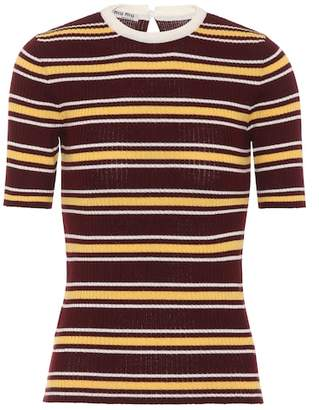 Miu Miu Striped wool top