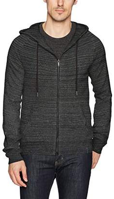 Calvin Klein Jeans Men's Long Sleeve Waffle Texture Full Zip Hoodie Sweater