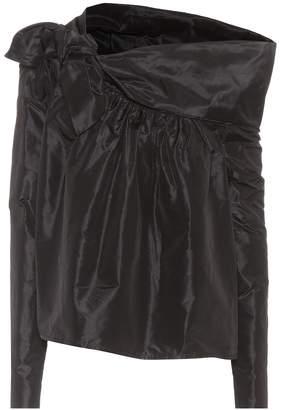 Isa Arfen Asymmetric silk top