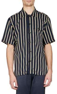 Ami Striped Button-Front Shirt