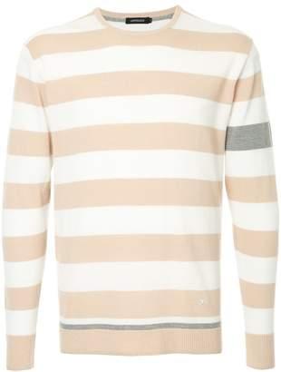Loveless striped colour-block sweater