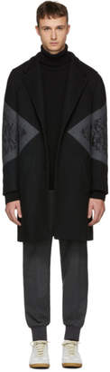 Neil Barrett Black Camo Single-Breasted Coat