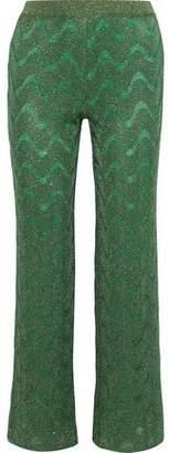 Missoni Metallic Crochet-knit Flared Pants