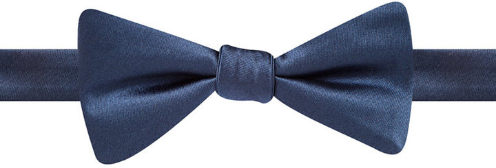 Countess Mara Satin Solid Bow Tie