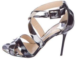 Jimmy Choo Patent Leather Ankle Strap Sandals