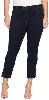 Gloria Vanderbilt Plus Size Amanda Snap-Hem Skinny Ankle Jeans