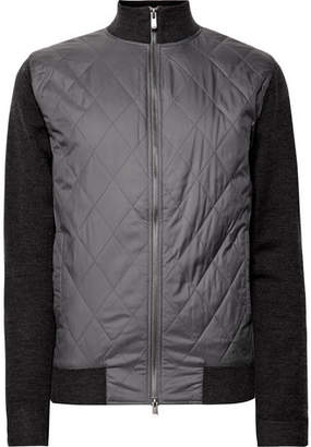 Dunhill Links Bunbury Quilted Shell And Wool Bomber Jacket