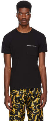 Versace Underwear Black Greek Logo Pocket T-Shirt