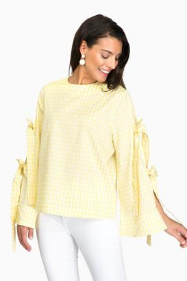 Style Mafia Yellow Gingham Wes Top $129 thestylecure.com