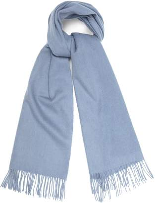 Reiss Saskia - Lambswool Cashmere Blend Scarf in Mid Blue