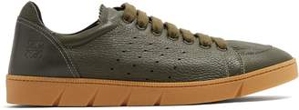 Loewe Round-toe leather low-top trainers
