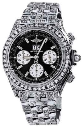 Breitling Crosswind A44355 Stainless Steel Black Dial 48mm Mens Watch