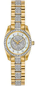 Bulova Women's Goldtone Swarovski Crystal Watch