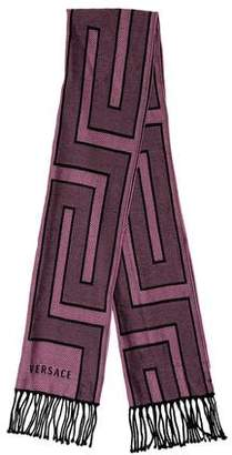 Versace Wool Abstract Scarf