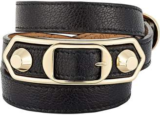 Balenciaga Women's Metallic Edge Double Tour Wrap Bracelet
