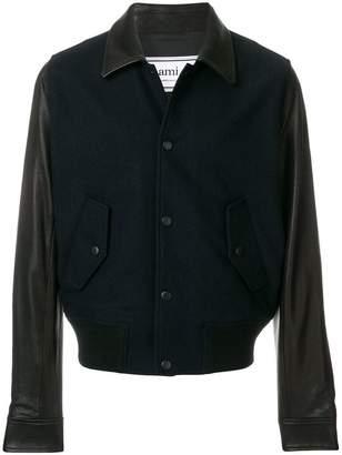 Ami Alexandre Mattiussi Bimaterial Snap Buttons Jacket