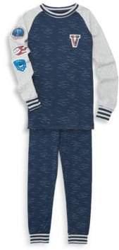 Petit Lem Boy's Two-Piece Graphic Cotton Pajama Top & Pants Set
