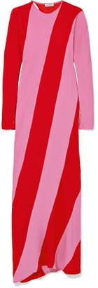 ATTICO Envers Striped Satin-crepe Maxi Dress - Red