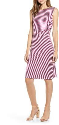 Bobeau Side Drape Knit Dress