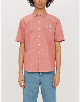 Billy Reid Patch pocket regular-fit cotton shirt